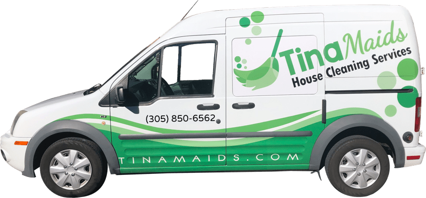 Tina Maids Franchise Van